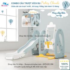 Cầu trượt Pakey Sale VIP, cậu trượt nhựa nguyên sinh cao dày dặn an toàn