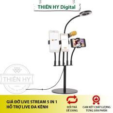 Giá Đỡ Live Stream 5 In 1 Có Thể Live Nhiều Kênh Cùng Lúc (PVN1064)
