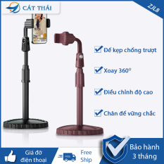 Giá đỡ điện thoại & Giá đỡ micro Cát Thái ZJL8 dành cho livestream xoay 360 độ mọi góc nhìn, có thể điều chỉnh độ cao, phần đế dày và nặng rất vững chắc, giá kẹp chống trượt chống trầy