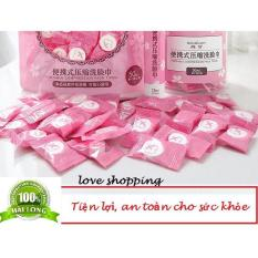 Túi 30 viên khăn ướt kẹo nén dạng viên
