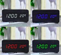[15 MÀU] Đồng Hồ Để Bàn Trang Trí bằng gỗ – LED – 15 Mẫu – (Ảnh & Video thật) Kiêm Báo Thức & Nhiệt Kế DH003