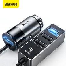 Bộ sạc thông minh trên xe hơi, ô tô 1 cổng usb và 3 cổng USB kéo dài công xuất 5,5A thương hiệu Baseus – Phân phối bởi Baseus Vietnam