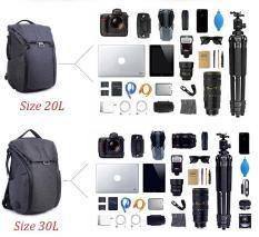 Balo máy ảnh cao cấp Xiu – Jian (Kiểu dáng Peak Design )