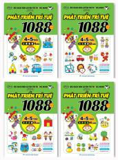 Sách – Combo 1088 Câu Đố Phát Triển Trí Tuệ từ 4 đến 5 tuổi (Trọn bộ 4 cuốn) – Tái Bản 2019