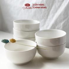 Bộ 6 Bát Cơm Trắng Trơn 12cm – Sứ Minh Châu