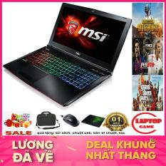 QUÁI VẬT GAME 3D MSI GE62 6QD Core i7-6700HQ/ Ram 16GB/ SSD128+1TB/ GTX 960M/ 15.6 inch Full HD 1920*1080 tấm nền IPS/ phím 7 màu/ Chất liệu vỏ nhôm cao cấp