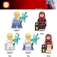 Minifigures Nhân Vật Công Chúa Elsa & Anna Mẫu Mới Ra Siêu Đẹp WM6084