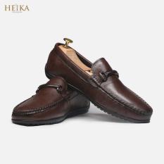 Giày da bò cao cấp/Giày lười nam/ giày mọi nam HEIKA410-Bảo hành 12 tháng-Tặng kèm lót giày