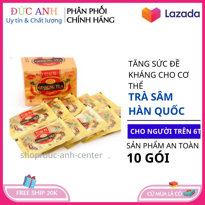 Trà sâm cao cấp tăng cường sức đề kháng bồi bổ sức khỏe cho cơ thể hộp 10 gói x 3 gam HSD 2023 coco shop hn