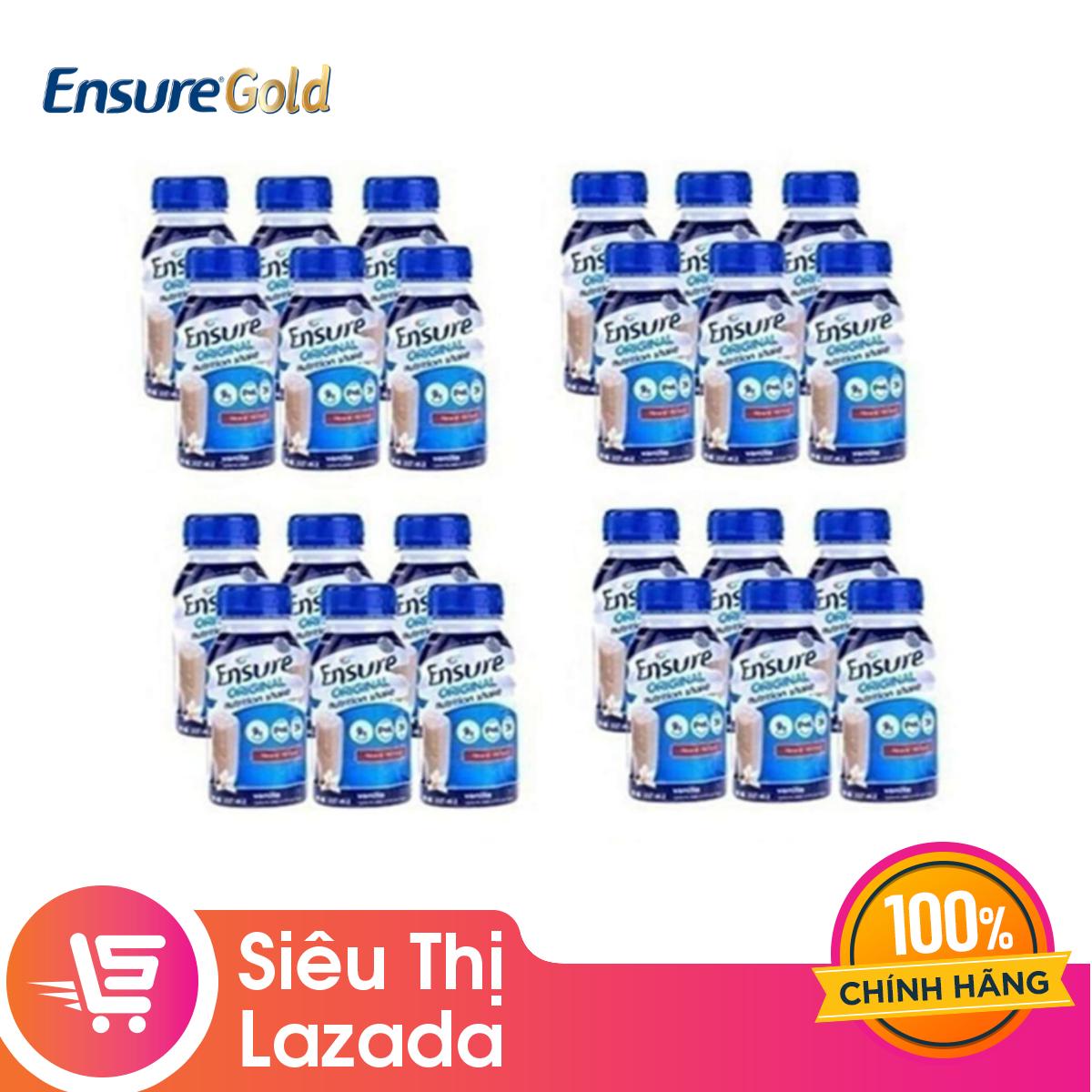 Thùng 24 chai sữa nước Ensure Vani 237ml thích hợp cho nhiều đối tượng cung cấp đầy đủ dinh dưỡng giúp hệ tiêu hóa khỏe mạnh – Giới hạn 5 sản phẩm/khách hàng