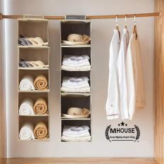 Túi Vải,Túi Treo 5 Ngăn,Túi Đựng Giày Dép, Tủ Vải Quần Áo, Túi Treo Tường