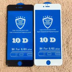Kính Cường Lực iphone 10D Full Màn Hình Dành Cho Iphone [6/6S 6Plus/6splus/7/7plus/8plus/X/Xs Xsmax/12 Mini/12/12Promax] độ cứng 9H+ siêu bền – 2 màu đen, trắng