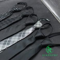 Cà vạt nam bản 6cm thắt sẵn dây kéo kiểu dáng hàn quốc mẫu 2021 Giangpkc