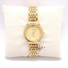 Đồng hồ nữ HALEI dây kim loại thời thượng ( HL552 dây vàng mặt vàng ) – TẶNG 1 vòng tỳ hưu phong thuỷ