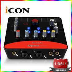 Sound card USB hát karaoke online ICON Upod Pro Red Model 2018