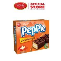 Bánh Peppie Richy phủ socola hộp Cam 12 (240g)