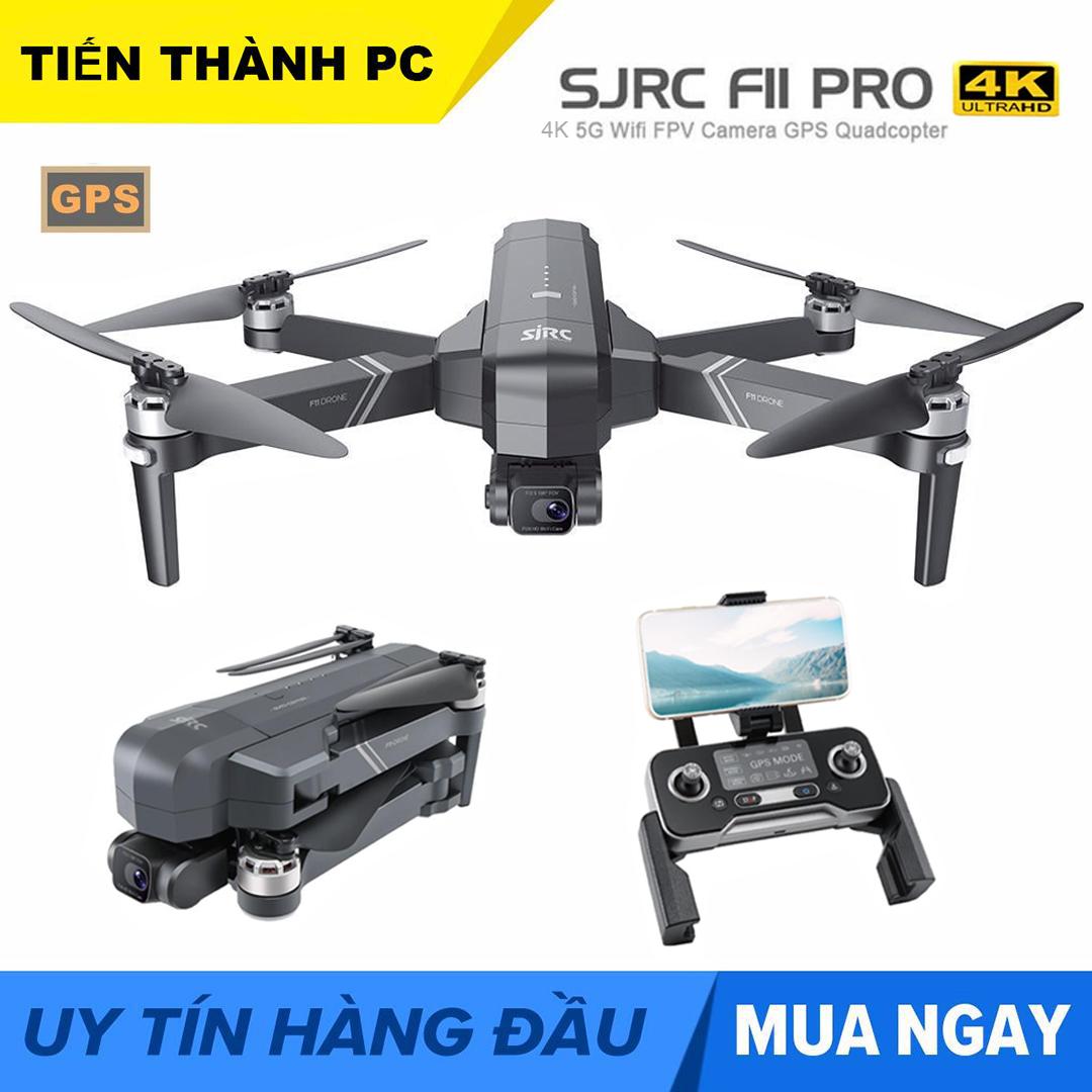 [ MỚI 2020 KÈM BALO ] Flycam SJRC F11 PRO Camera 4k Gimbal trống rung 2 Trục bản nâng cấp...