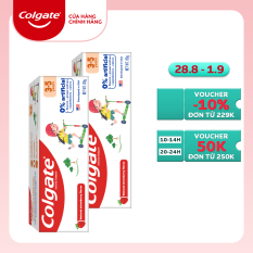 Bộ 2 Kem đánh răng trẻ em không hương liệu và chất bảo quản cho trẻ 3-5 tuổi Colgate Kid Free From 3-5 80g/tuýp
