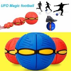 Bóng biến hình, bóng ném dạng đĩa bay cho trẻ hoạt động ngoài trời, nhựa ABS an toàn, lò xo nẩy bóng mạnh