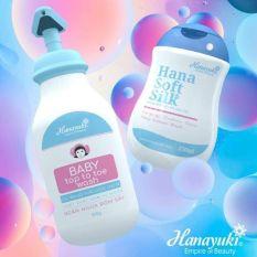 Sữa Tắm Gội Thảo Dược Cho Bé Hanayuki – Hana Baby Top To Toe