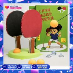 Bóng bàn luyện phản xạ Loại Tốt – Bộ đồ chơi bóng phản xạ – Dụng cụ tập đánh bóng bàn cho mọi lứa tuổi (gồm 3 bóng, 2 vợt ) – Niki Store