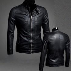 Áo khoác da nam đen trơn thời trang cao cấp-Da01 (bảo hành 5 năm) , đường chỉ may sắc sảo, cực kì chắc chắn, dễ dàng phối đồ cùng với những phụ kiện khác