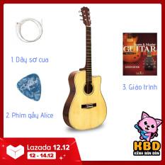 Đàn Guitar Acoustic KBD -10 + pick gảy TẶNG KÈM KHÓA HỌC, giáo trình online hướng dẫn cho người mới tập chơi.