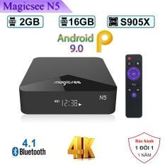 [Có video] Android tivi box Magicsee N5 – Chip S905X siêu khủng – Android 9.0 – Ram 2GB – Rom 16GB – Xem truyền hình miễn phí