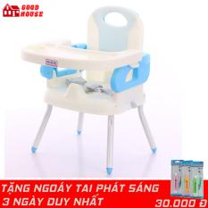 Ghế ăn dặm cho bé thiết kế nhỏ gọn, hiện đại. Có Chân sắt, Mặt bàn có các hốc riêng biệt, chắc chắn an toàn cho trẻ