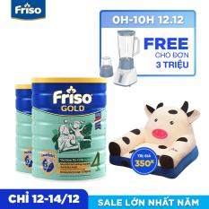 [Freeship toàn quốc] Bộ 2 lon sữa bột Friso Gold 4 1.5kg + Tặng Sofa con bò trị giá 350K