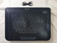 [Nhập NEWSELLERW503 giảm 10% tối đa 100K] Đế Fan tản nhiệt Laptop Cooling Pad N99 – 2 quạt đèn led có nấc lên lên hạ xuống laptop từ 10-17 inch