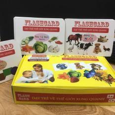 Thẻ học flashcard cho bé 14 chủ đề cỡ đại cho bé (Away)