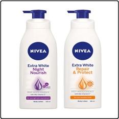 Combo Sữa Dưỡng Thể Nivea: Ban Ngày SPF30 PA++350ml & Ban Đêm Bổ Sung Collagen 400ml