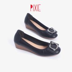 Giày Búp Bê Đế Xuồng Da Thật Khoá Tròn Pixie X665