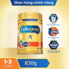 [FREESHIP] Sữa bột Enfagrow A+ 3 cho trẻ từ 1-3 tuổi (830g) – Cam kết HSD còn ít nhất 10 tháng