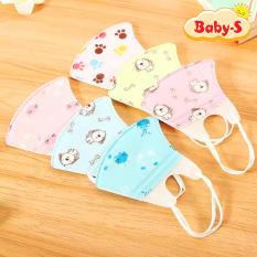 Set 5 khẩu trang giấy 3D nhiều họa tiết và màu sắc đáng yêu cho bé 0-3 tuổi cho bé mang đi học mỗi ngày Baby-S – SM001