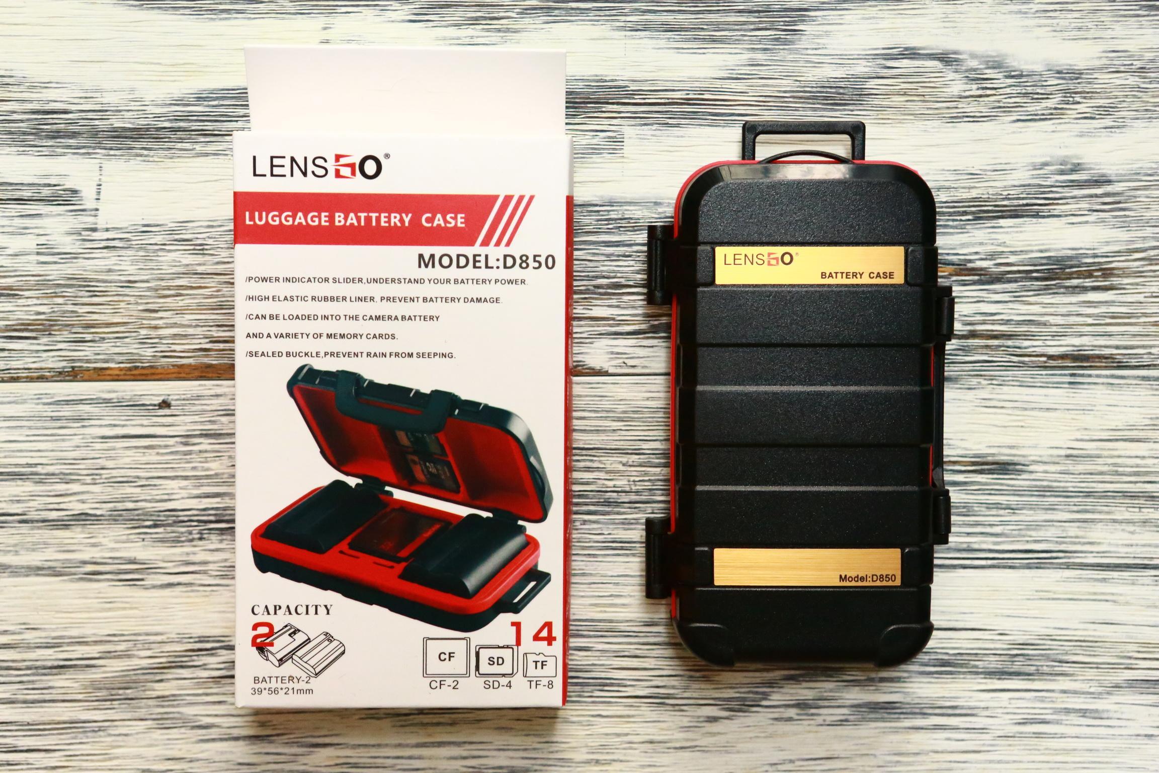 Hộp đựng pin và thẻ nhớ Lensgo