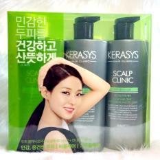 Bộ gội xả trị gàu Kerasys Scalp Clinic Hàn Quốc 600mlx3