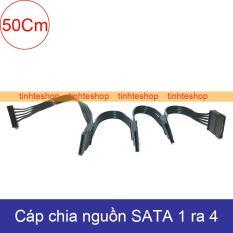 Dây nguồn SATA 1 ra 4 cấp nguồn cho 4 ổ cứng HDD SSD DVD-R 30Cm Brawis BR-CBSTPW1450CMBK