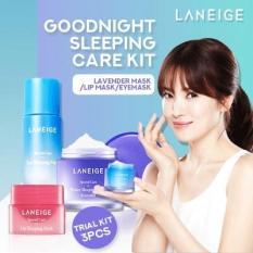 Bộ 3 mặt nạ ngủ dành cho Mặt – Mắt – Môi Laneige Sleeping Care Good Night Kit 3 Item