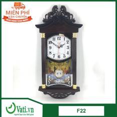 [Vati] Đồng hồ treo tường quả lắc lớn hình ngôi nhà F22