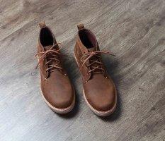 Giày boot cao cấp cổ lửng chính hãng BANULI, kiểu giày vintage B3CK1C0 da bò sáp, đế cao su tự nhiên