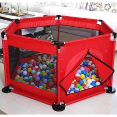 Combo quây bóng khung inox cho bé + 100 bóng tặng kèm