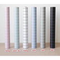 Cuộn 5M x 45cm decal giấy dán tường (có sẵn keo) – ô vuông nhỏ NT222
