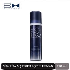 Sửa Rửa Mặt Dưỡng Ẩm Nam BLUEMAN Chính Hãng Skin Pro Giúp Làm Sạch Da Ngừa Mụn 120ml ZL69