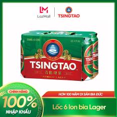 [10.10] Lốc 6 lon Bia Tsingtao Classic Lager – Độ cồn 5.0% – Nhập khẩu chính hãng 100%