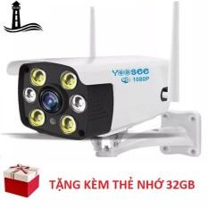 Bộ Camera Ngoài Trời Chống Nước Yoosee Full HD 1080P 4 Led Trợ Sáng Đàm Thoại 2 Chiều