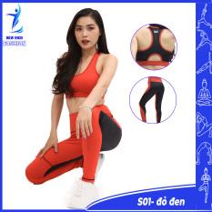 Đồ tập yoga nữ thời trang thiết kế, chất vải co giãn 4 chiều cao cấp, thấm hút mồ hôi tốt