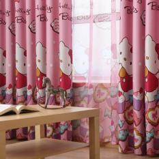 Rèm vải trang trí (có sẵn khoen) – HỌA TIẾT KITTY VÀ BÁNH KẸO PR012