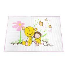Tấm lót cao su chống thấm cao cấp kareal Cuddles 60x90cm – Malaysia (Nệm thoáng khí cho em bé)